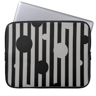 Solid Silver Circles Laptop Sleeve