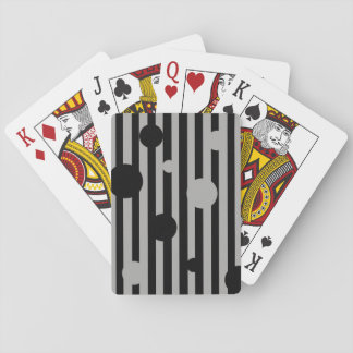 Solid Silver Circles Playing Cards