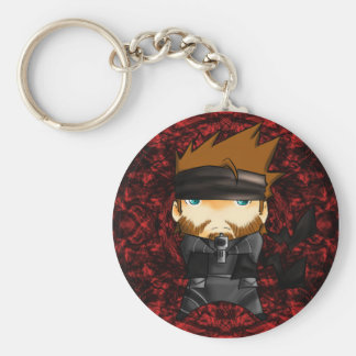 Solid snake 007 keychain