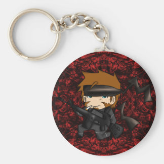 Solid snake M15A2 Basic Round Button Keychain