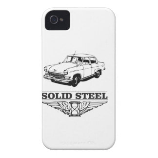 solid steel car white Case-Mate iPhone 4 cases