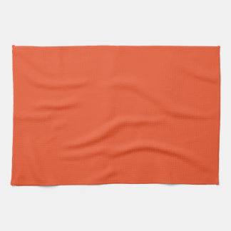 Solid Tangerine Tango Kitchen Towel