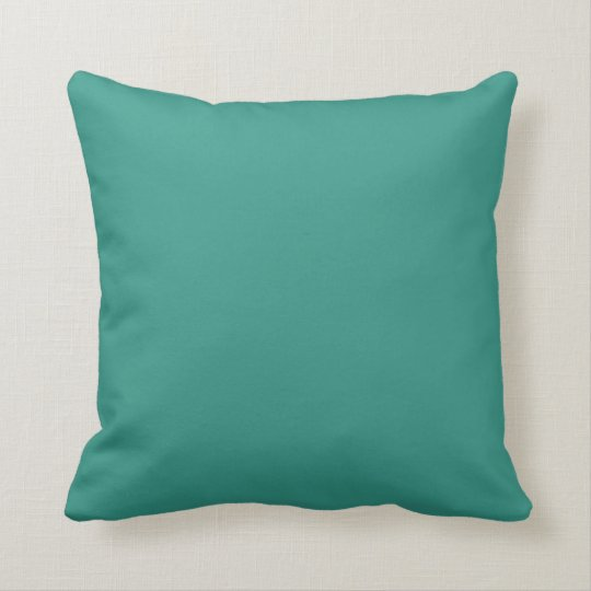 Solid Teal Green Sofa Accent Pillow