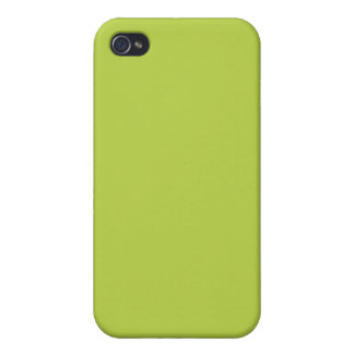 Solid Tender Shoots Green iPhone 4 Cases