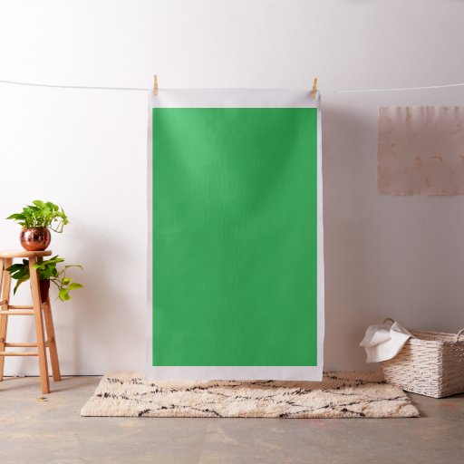 Solid Vibrant Green Colour Cotton Fabric