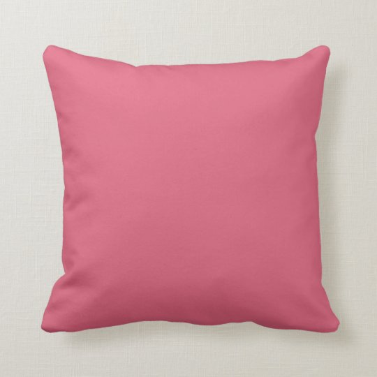 Solid Watermelon Pink Pop of Colour Throw Pillow