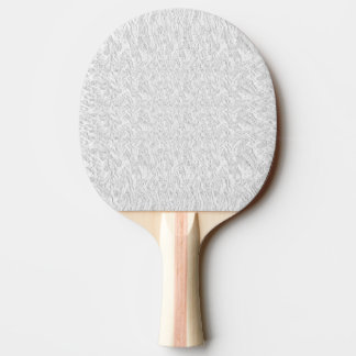 Solid White Textured Ping-Pong Paddle