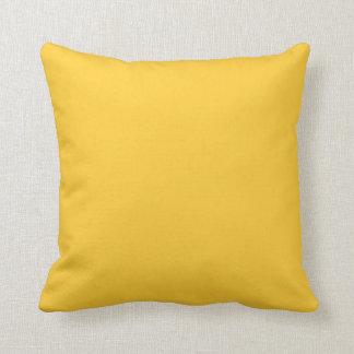 solid yellow mustard ochore pillow