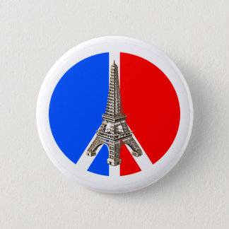 Solidarité Peace Eiffel Tower 2 Inch Round Button