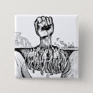 Solidarity 2 Inch Square Button