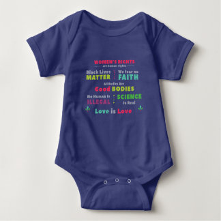Solidarity Baby Snap Bottom Shirt