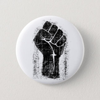 Solidarity Fist Grunge Distressed Style 2 Inch Round Button