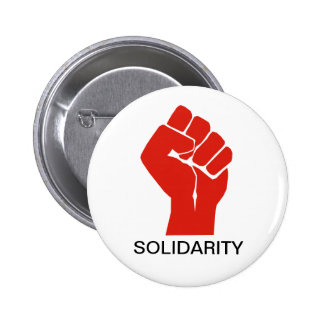 Solidarity With Wisconsin's Unions 2 Inch Round Button