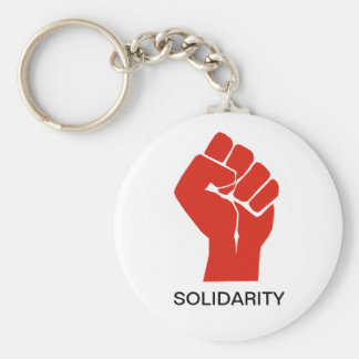 Solidarity With Wisconsin's Unions Basic Round Button Keychain