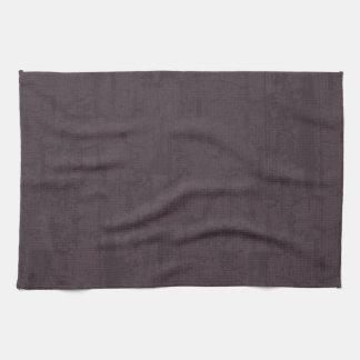 solidN RICH DARK PURPLE VELVET GRUNGE TEXTURE BACK Kitchen Towel