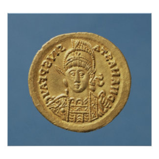 Solidus  minted by Theodoric I Poster