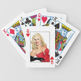 Solitaire Miles Queen of Hearts Poker Deck