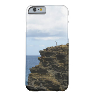 Solitary Figure on a Cliff Barely There iPhone 6 Case