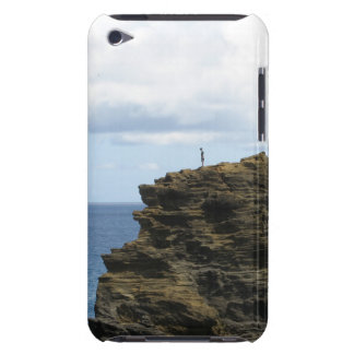 Solitary Figure on a Cliff Barely There iPod Covers