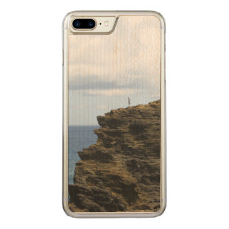 Solitary Figure on a Cliff Carved iPhone 8 Plus/7 Plus Case