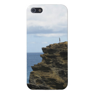 Solitary Figure on a Cliff Case For iPhone 5/5S