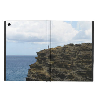 Solitary Figure on a Cliff iPad Air Cover