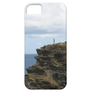 Solitary Figure on a Cliff iPhone 5 Covers
