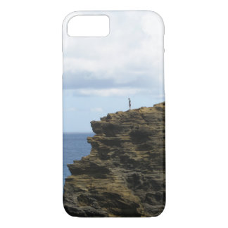Solitary Figure on a Cliff iPhone 7 Case