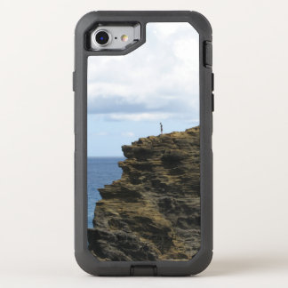 Solitary Figure on a Cliff OtterBox Defender iPhone 7 Case