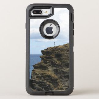 Solitary Figure on a Cliff OtterBox Defender iPhone 8 Plus/7 Plus Case