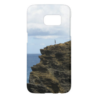 Solitary Figure on a Cliff Samsung Galaxy S7 Case