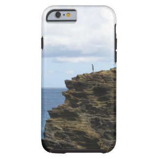 Solitary Figure on a Cliff Tough iPhone 6 Case
