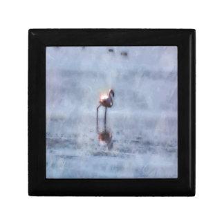 Solitary Flamingo Watercolor Gift Box