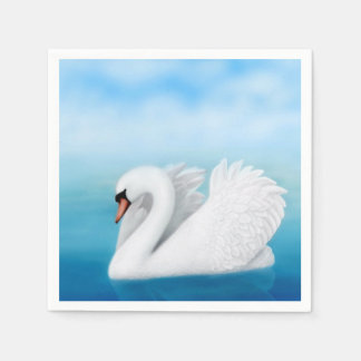 Solitary Mute Swan Paper Napkins