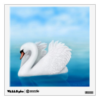 Solitary Mute Swan Wall Decal
