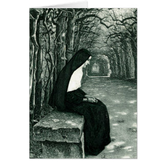 solitary nun card