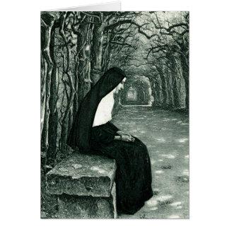 solitary nun card