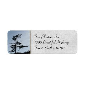 Solitary Survivor Tree Return Address Label