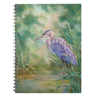 """Solitude"" - Blue Heron Pastel Painting Notebooks"