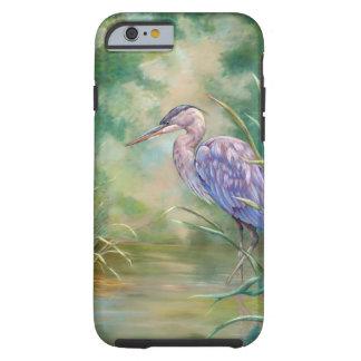 """Solitude"" - Blue Heron Pastel Painting Tough iPhone 6 Case"