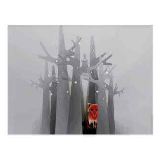 Solitude Fox Postcard