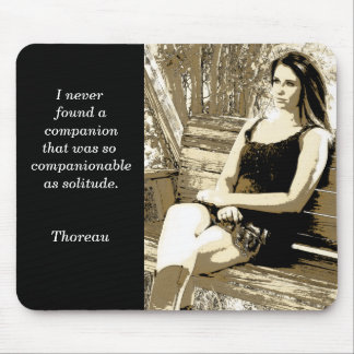 Solitude - Thoreau quote - mouse pad