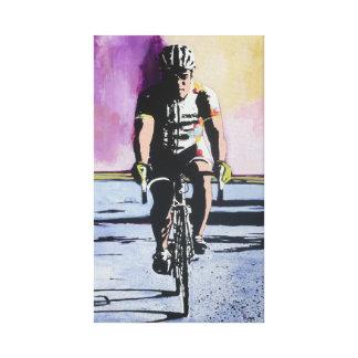 Solo Cyclist Canvas Print