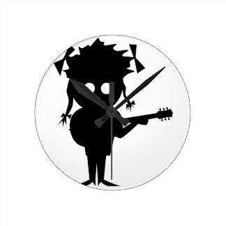 Solo Singer Round Clock