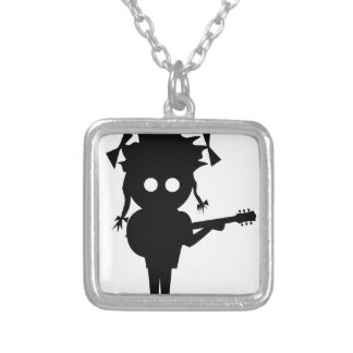 Solo Singer Silver Plated Necklace