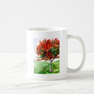Solo Tree in Colour Basic White Mug