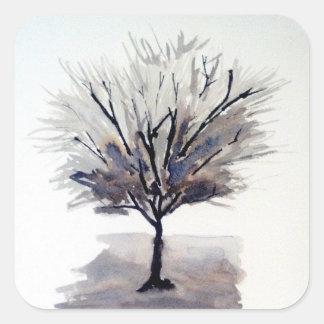 Solo Tree in Monochrome Stickers