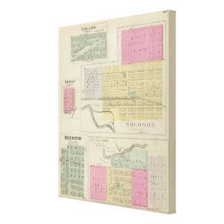 Solomon, Enterprise, Dillon, Detroit, Kansas Canvas Print