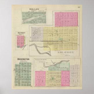 Solomon, Enterprise, Dillon, Detroit, Kansas Poster
