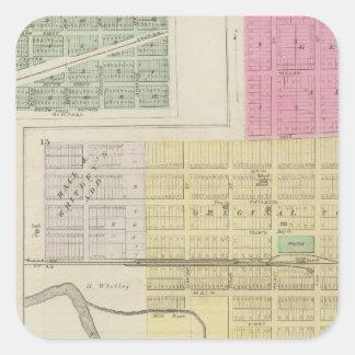 Solomon, Enterprise, Dillon, Detroit, Kansas Square Sticker